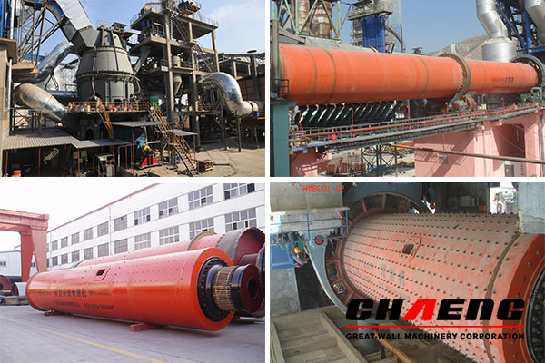 GRMR53.41 raw material vertical mill, φ4.8 x 72m rotary kiln,  φ4.2 x 13m cement mill, and φ3.8 x 9.5m coal mill, etc