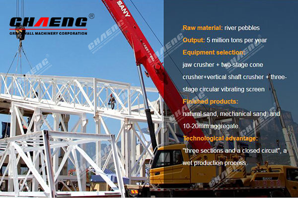 CHAENG EPC turnkey Sandstone aggregate production line project